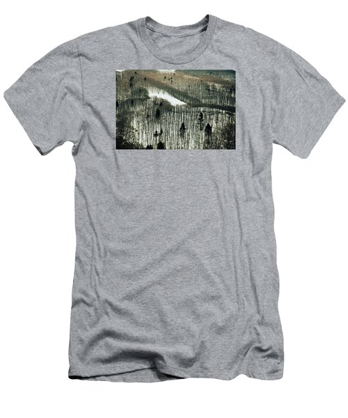 Mountain Forest Men's T-Shirt (Slim Fit) by Vittorio Chiampan