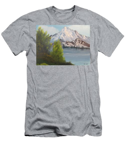 Mountain Lake Men's T-Shirt (Slim Fit) by Thomas Janos