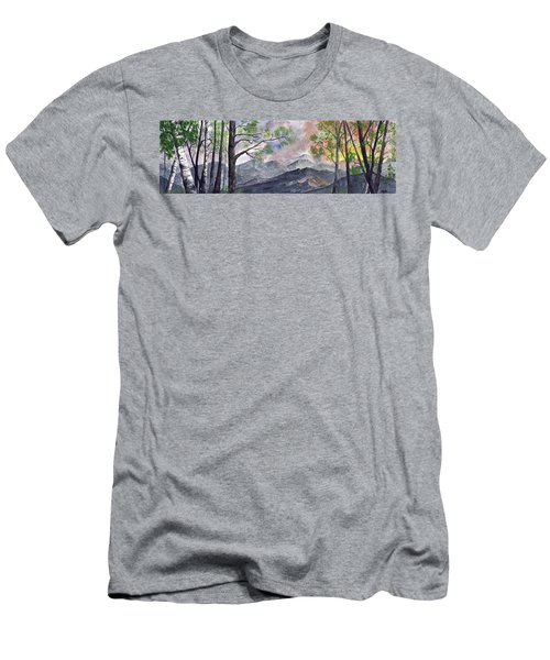 Mountain Morning Men's T-Shirt (Slim Fit) by Terry Cork