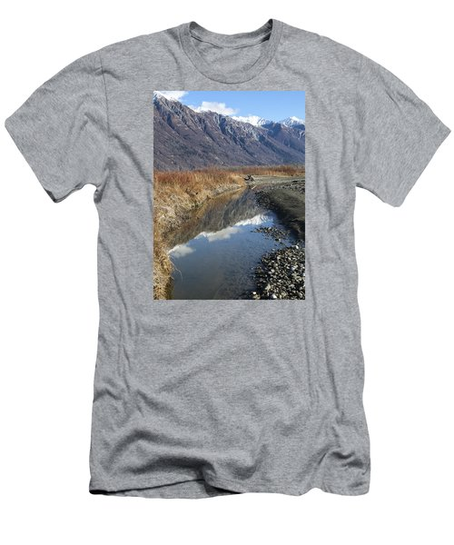 Mountain Reflections In Fall Men's T-Shirt (Slim Fit) by Michele Cornelius