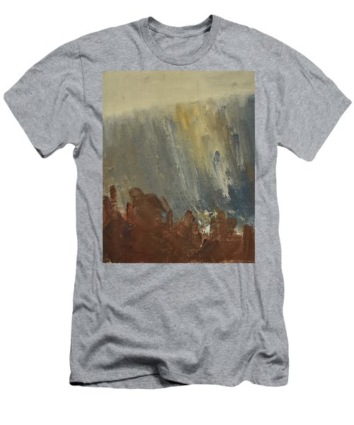 Mountain Side In Autumn Mist. Up To 90x120 Cm Men's T-Shirt (Athletic Fit)