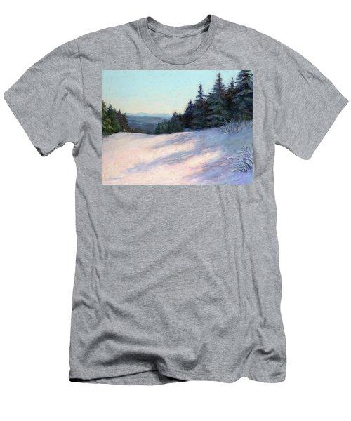 Men's T-Shirt (Slim Fit) featuring the painting Mountain Stillness by Vikki Bouffard