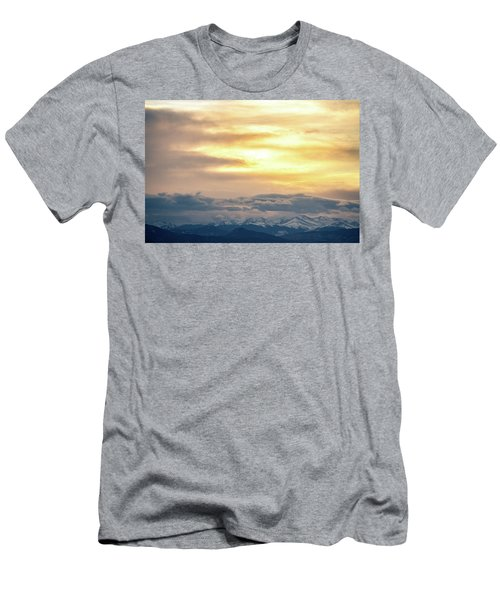 Men's T-Shirt (Athletic Fit) featuring the photograph Mountain Sun by Tyson Kinnison