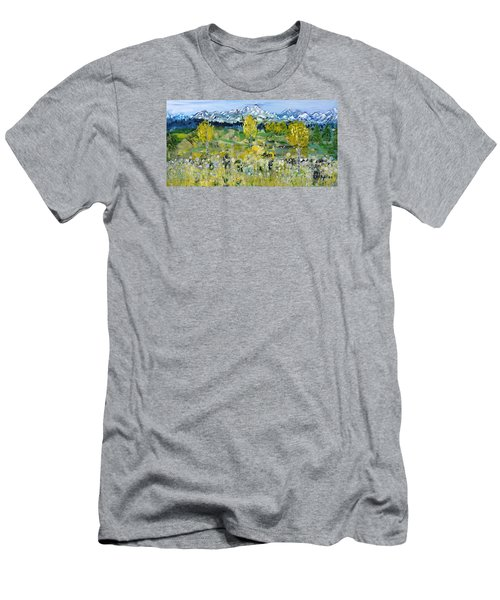 Mountain View Men's T-Shirt (Slim Fit) by Evelina Popilian