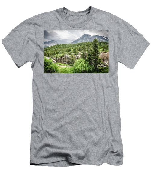Men's T-Shirt (Athletic Fit) featuring the photograph Mountain Vistas by Margaret Pitcher