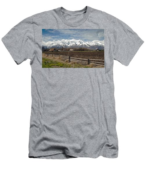 Mountains In Logan Utah Men's T-Shirt (Athletic Fit)