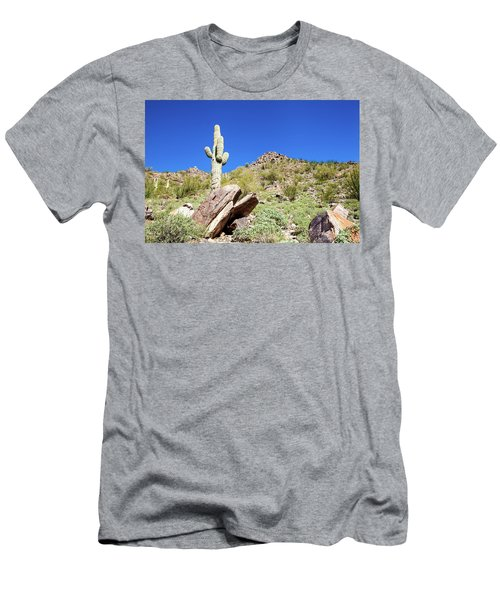 Mountainside Cactus 2 Men's T-Shirt (Athletic Fit)