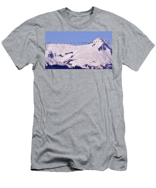 Mountaintop Geese II Men's T-Shirt (Athletic Fit)