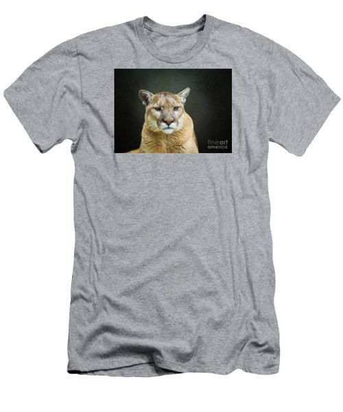 Mountian Lion Men's T-Shirt (Slim Fit) by Suzanne Handel