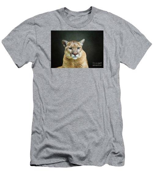 Mountian Lion Men's T-Shirt (Athletic Fit)