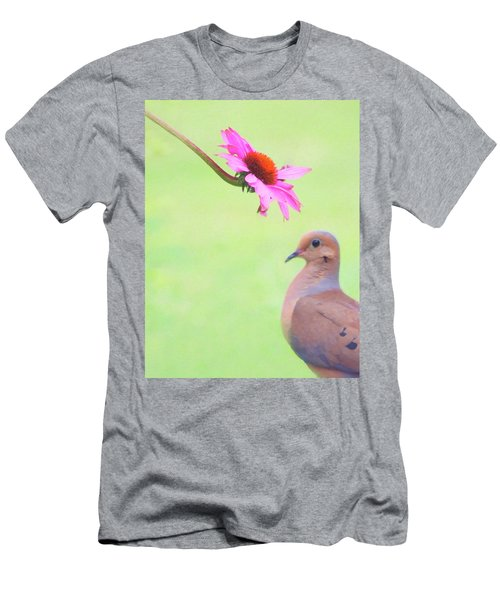 Men's T-Shirt (Athletic Fit) featuring the photograph Mourning Dove by Sue Collura
