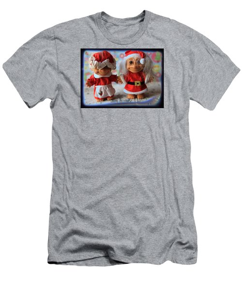 Men's T-Shirt (Slim Fit) featuring the photograph Mr And Mrs Santa Troll by Toni Hopper