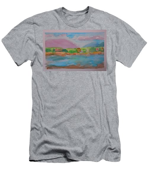 Mt Desert From Marlboro Beach Men's T-Shirt (Slim Fit) by Francine Frank