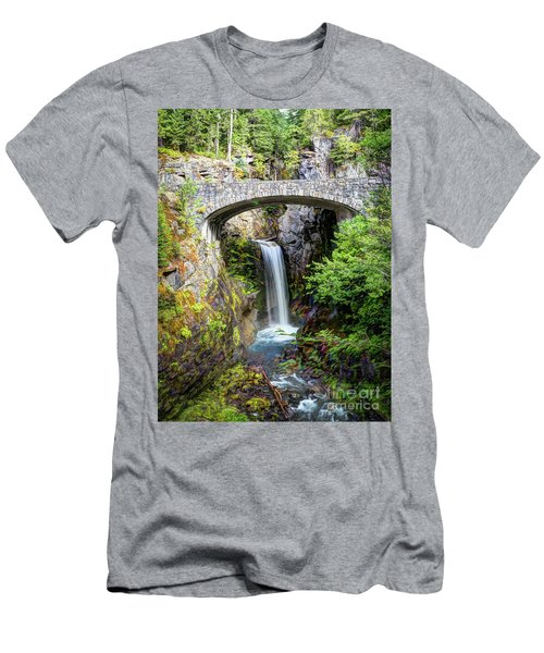 Mt Rainier National Park, Christine Falls Men's T-Shirt (Athletic Fit)