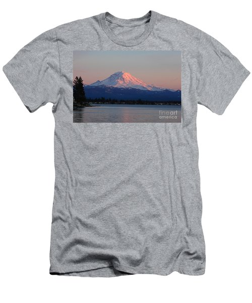 Men's T-Shirt (Athletic Fit) featuring the photograph Mt Rainier Sunset by Peter Simmons