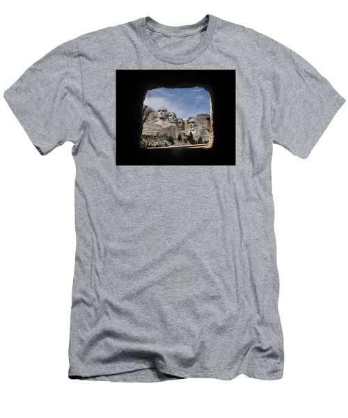 Men's T-Shirt (Slim Fit) featuring the photograph Mt Rushmore Tunnel by David Lawson