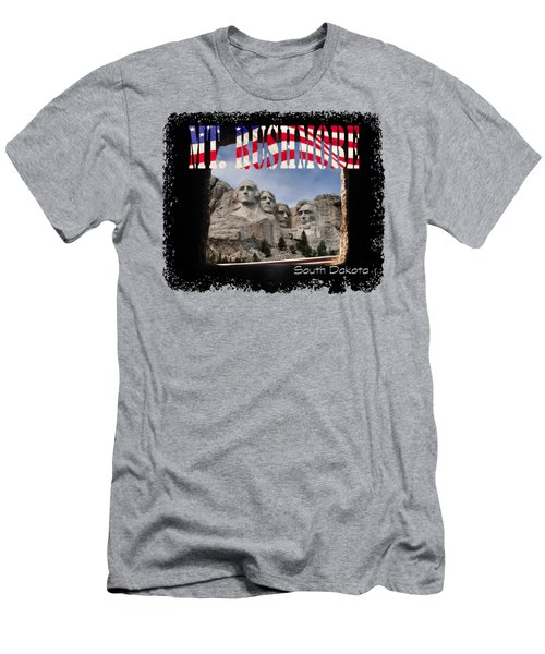 Mt. Rushmore -tunnel Vision Men's T-Shirt (Athletic Fit)