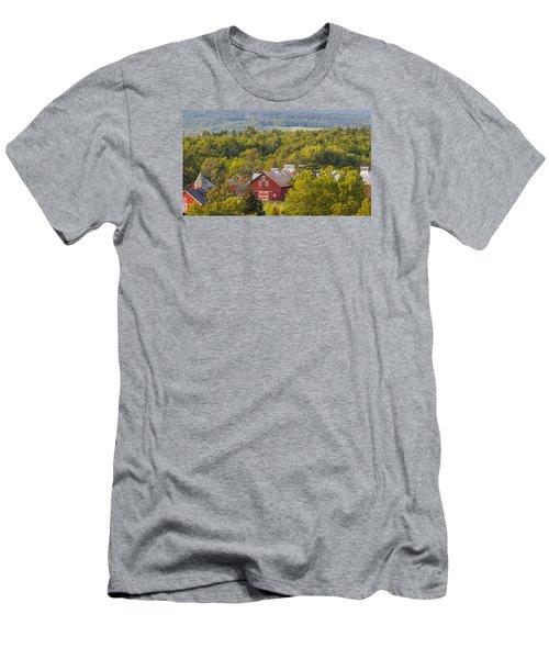 Mt View Farm In Summer Men's T-Shirt (Slim Fit) by Tim Kirchoff