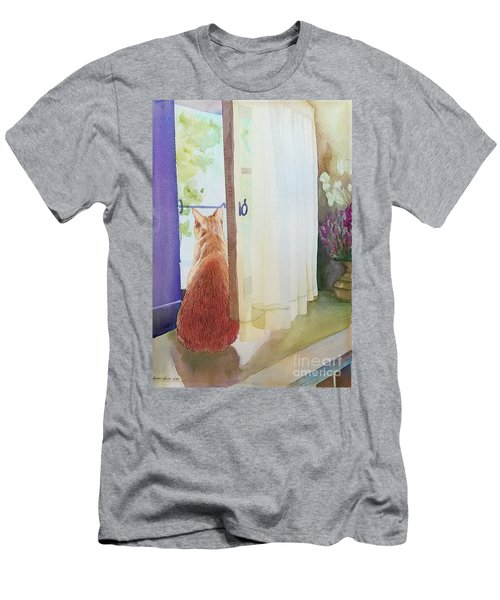 Muffin At Window Men's T-Shirt (Athletic Fit)