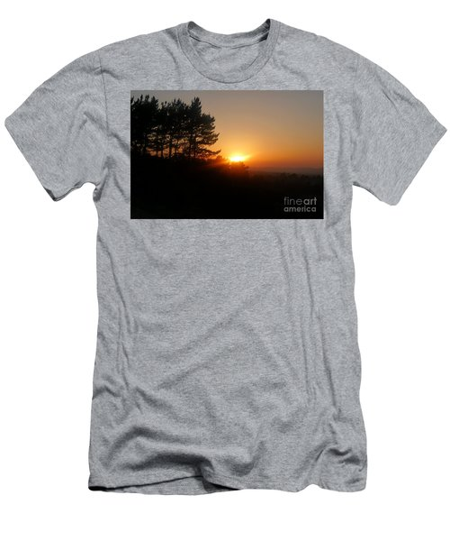 Men's T-Shirt (Slim Fit) featuring the photograph Mulholland Sunset And Silhouette by Nora Boghossian