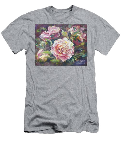 Men's T-Shirt (Athletic Fit) featuring the painting Multi-hue And Petal Rose. by Ryn Shell