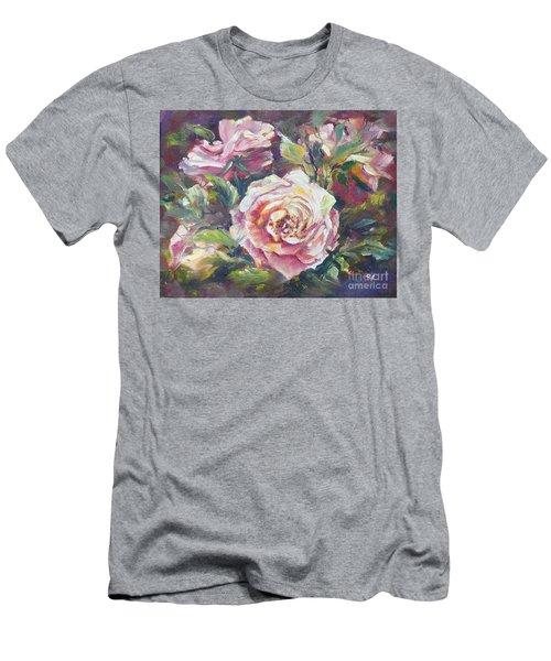 Multi-hue And Petal Rose. Men's T-Shirt (Athletic Fit)