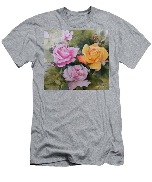 Mum's Roses Men's T-Shirt (Slim Fit) by Sandra Phryce-Jones