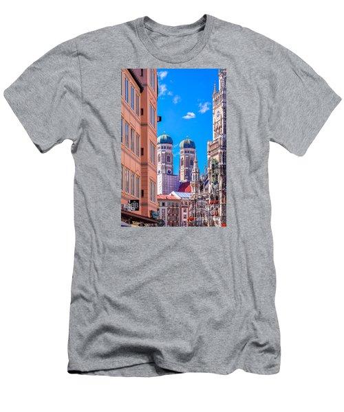 Munich Center Men's T-Shirt (Slim Fit) by Juergen Klust