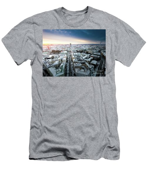 Men's T-Shirt (Slim Fit) featuring the photograph Munich - Sunrise At A Winter Day by Hannes Cmarits