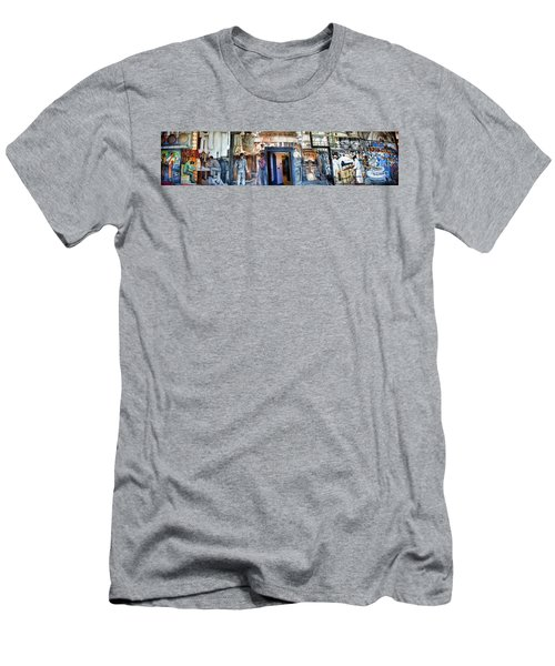 Mural Coit Tower Interior Panorama  Men's T-Shirt (Athletic Fit)