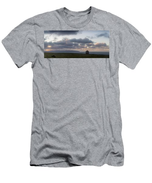 Musseden Temple Sunset Men's T-Shirt (Athletic Fit)