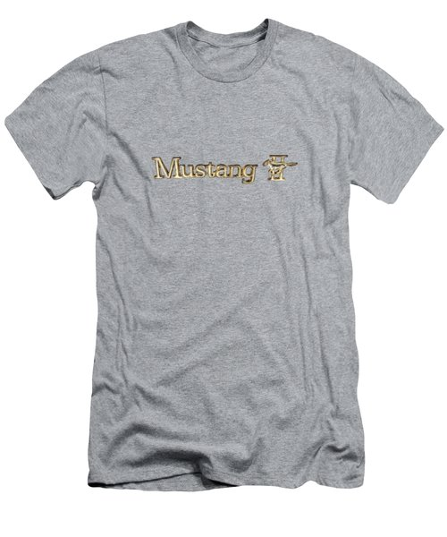 Mustang II Chrome Emblem Men's T-Shirt (Athletic Fit)