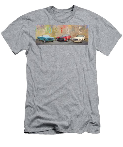 Mustang Panorama Painting Men's T-Shirt (Athletic Fit)
