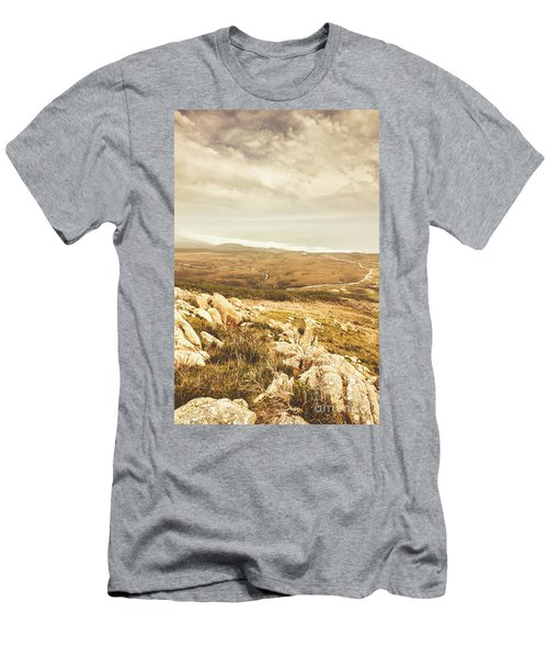 Muted Mountain Views Men's T-Shirt (Athletic Fit)
