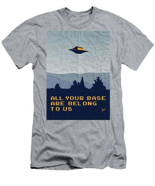 My All Your Base Are Belong To Us Meets X-files I Want To Believe Poster  Men's T-Shirt (Athletic Fit)