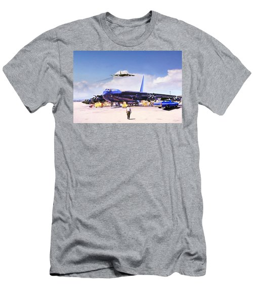Men's T-Shirt (Slim Fit) featuring the digital art My Baby B-52 by Peter Chilelli