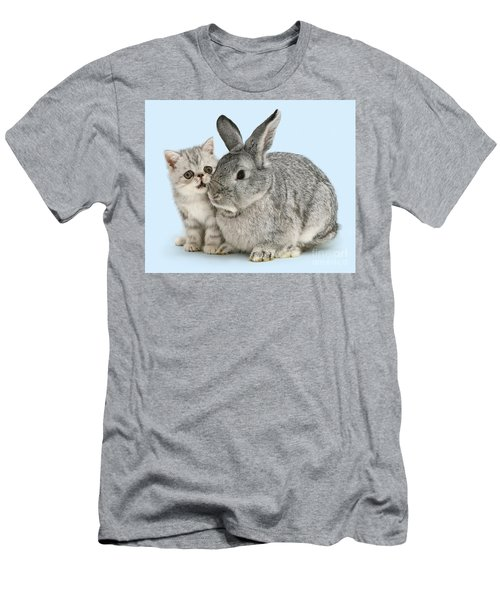 My Bunny Little Friend Men's T-Shirt (Athletic Fit)