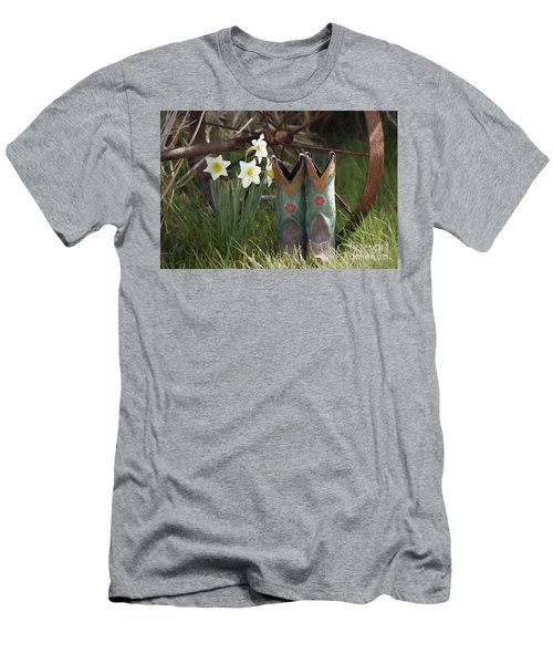 Men's T-Shirt (Slim Fit) featuring the photograph My Favorite Boots by Benanne Stiens