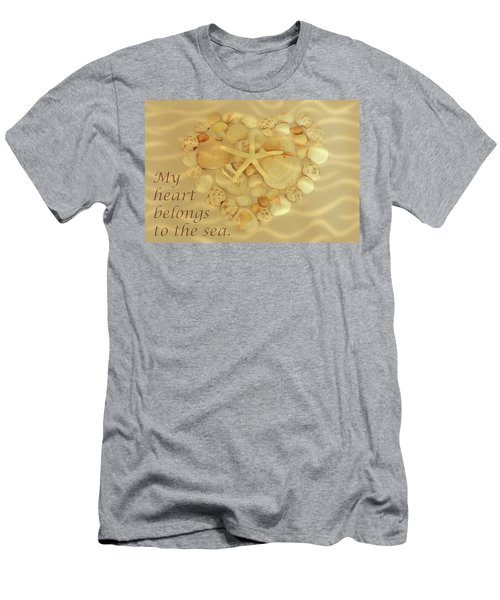 Men's T-Shirt (Athletic Fit) featuring the photograph My Heart Belongs To The Sea by Angie Tirado