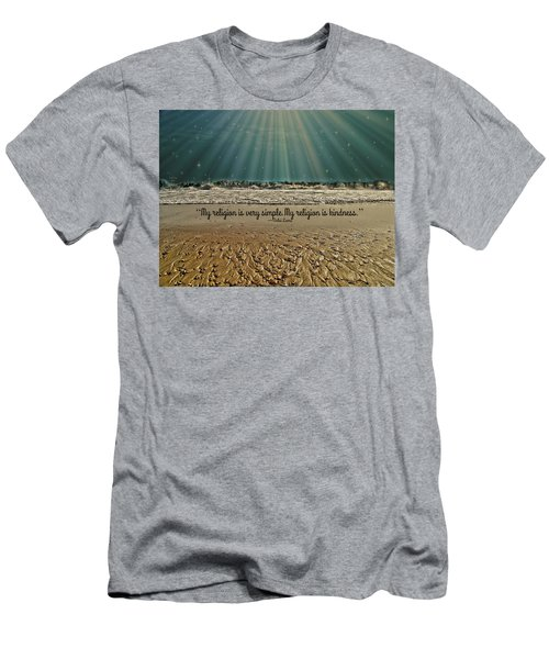 Men's T-Shirt (Slim Fit) featuring the mixed media My Religion by Trish Tritz