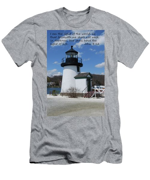 Mystic Lighthouse John 8-12 Men's T-Shirt (Athletic Fit)