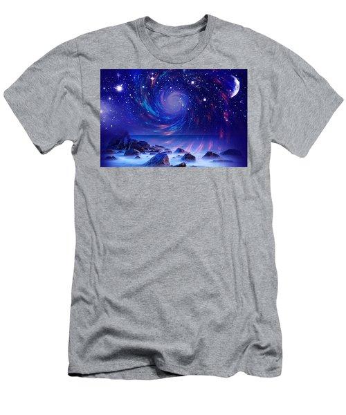 Mystic Lights Men's T-Shirt (Slim Fit) by Gabriella Weninger - David