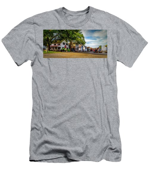 Mystic Seaport Village Men's T-Shirt (Athletic Fit)