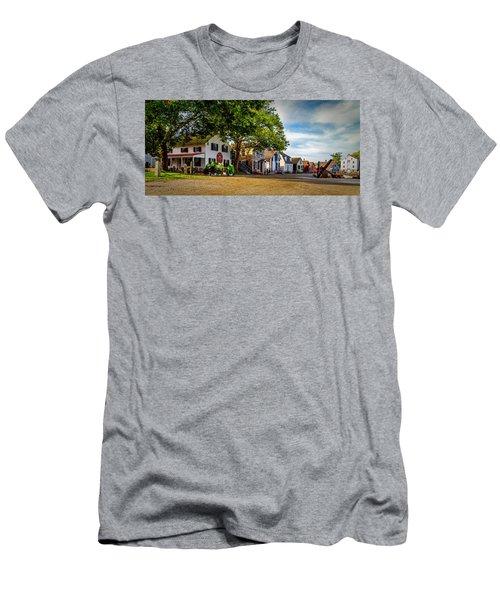Mystic Seaport Village Men's T-Shirt (Athletic Fit)