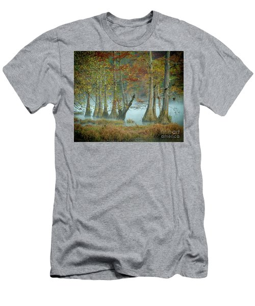 Men's T-Shirt (Slim Fit) featuring the photograph Mystical Mist by Iris Greenwell