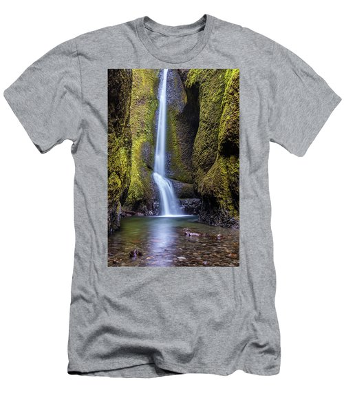 Mystical Oneonta Falls Men's T-Shirt (Slim Fit) by Pierre Leclerc Photography