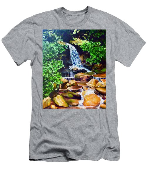 Nantahala Waterfall Men's T-Shirt (Athletic Fit)