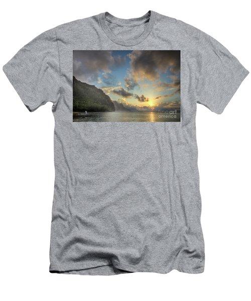 Napali Coast Sunset Kauai Men's T-Shirt (Athletic Fit)