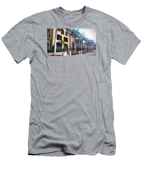 Naples On The Waterfront Men's T-Shirt (Slim Fit) by Rena Trepanier