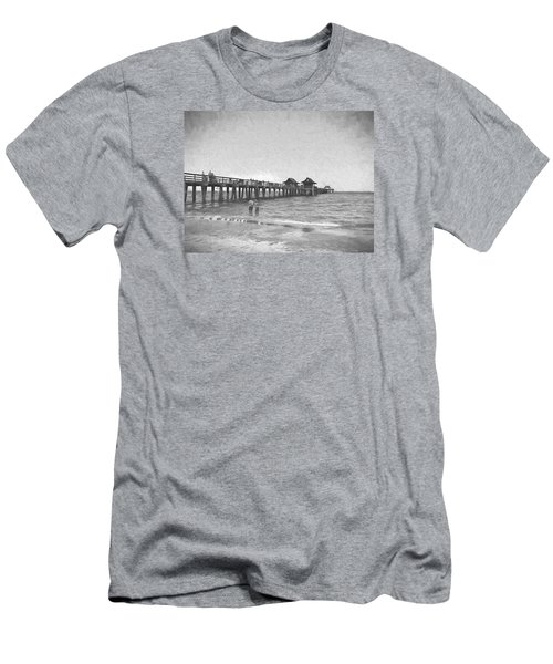 Naples Pier Men's T-Shirt (Slim Fit) by Rena Trepanier
